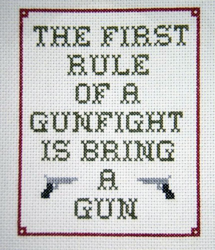 first rule of gunfight