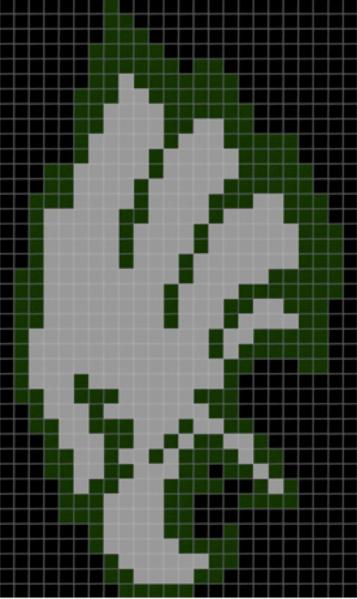Logoscarf Pixelpattern