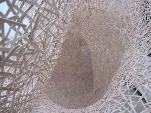 Jonathan Brilliant Coffee Stirrer Cobweb Installation Close Up.JPG