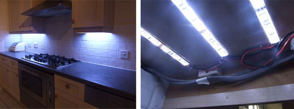 DIY Under Cabinet LED Lighting