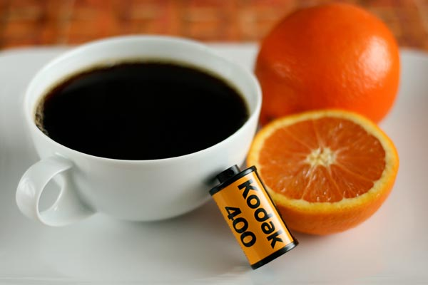 Developing Film with Coffee and Vitamin C