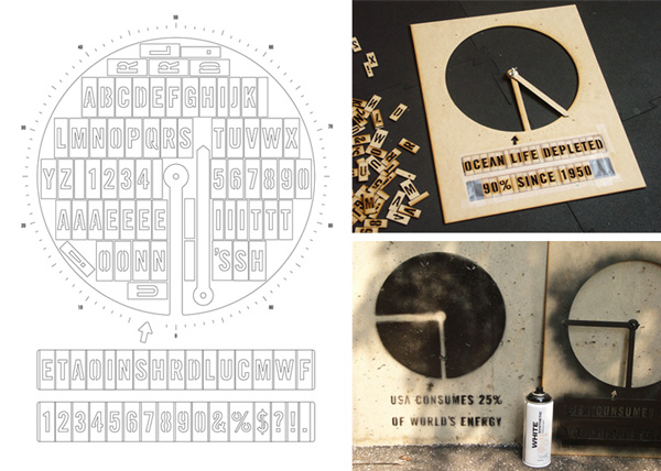 Laser Cut Stencil Graffiti Pie Chart Infographic
