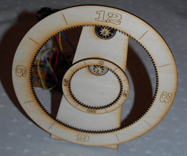 how to make a gear clock