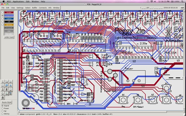 Geda-Screenshot Pcb Osx