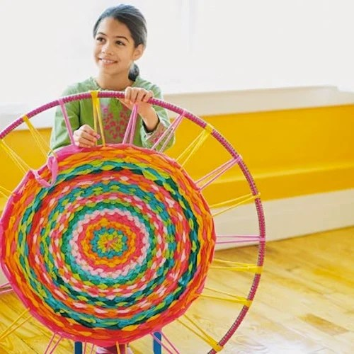 How To Weave A Hula Hoop Rug Make