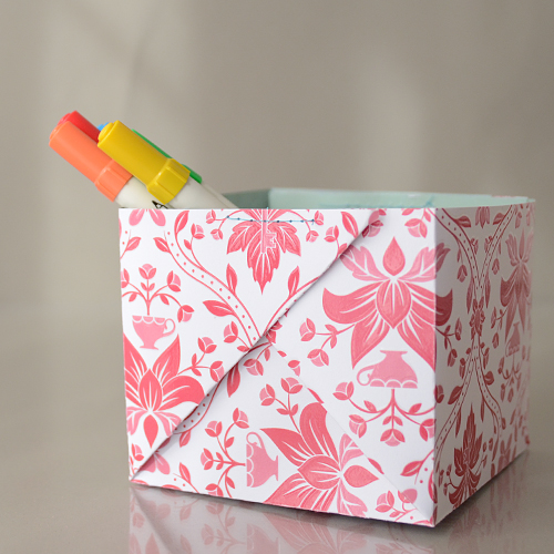 How To Sewn Paper Box Make