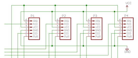 Schematic of the JeeNode ports