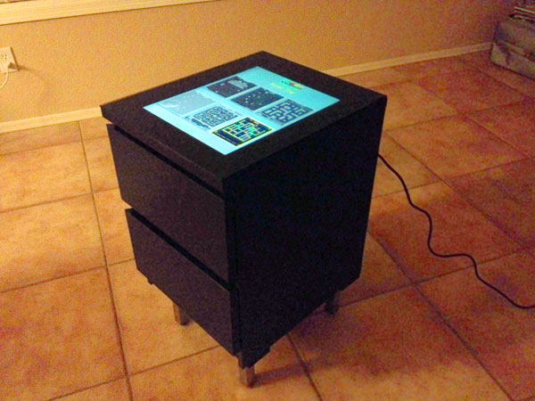 Cocktail style ikea arcade cabinet make for Ikea cocktail table