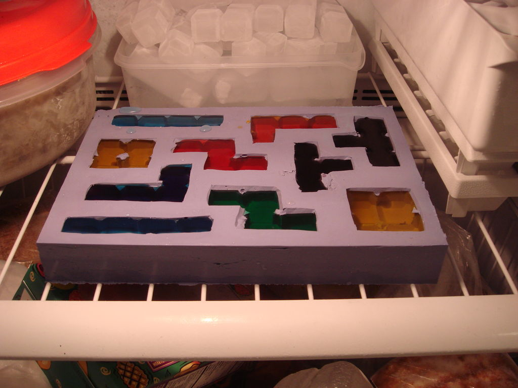 tetris ice cubes freezer