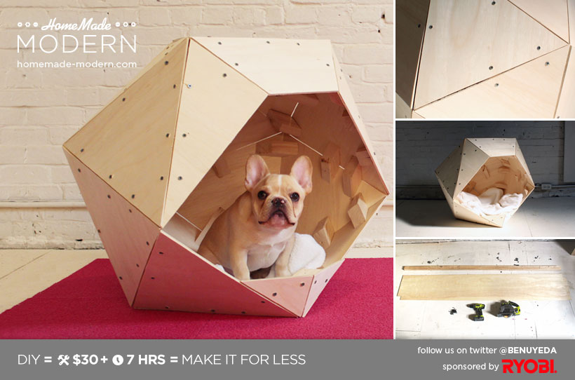 geometric dog house