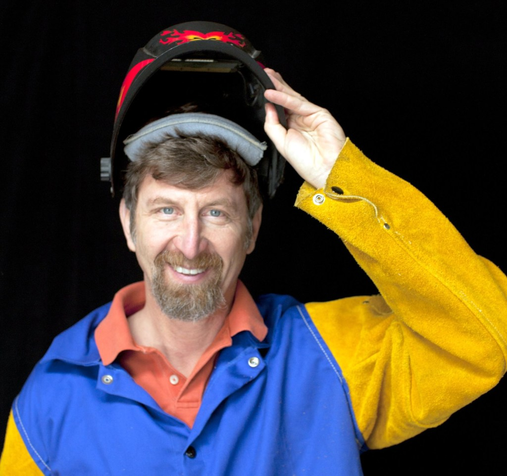 Bill in welding outfit