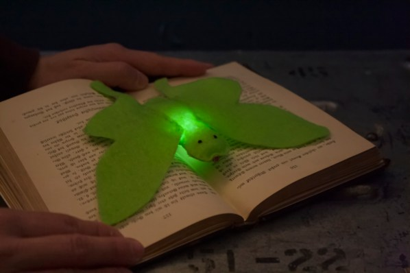 Luna Moth from bitwise E-textiles