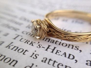 Turk's head engagement ring