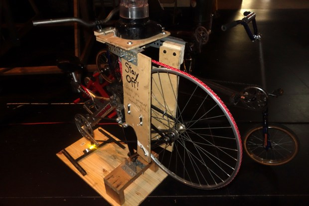 One of Jeff Del Papa's frankenbikes. This one could replace your blender during a blackout.