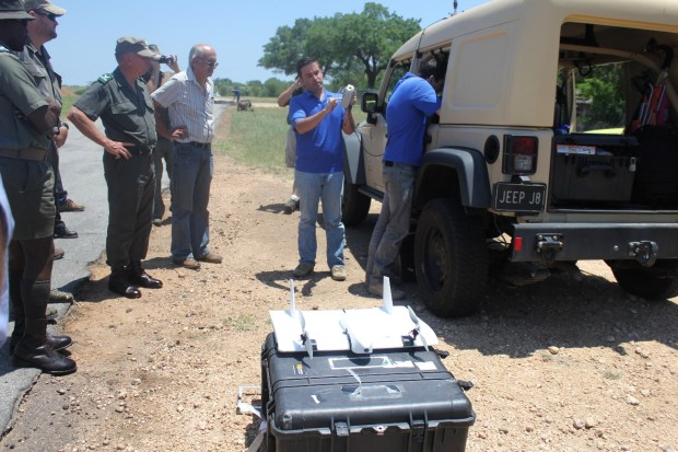 "General Jooste Observes Demonstration of ""Skate"" UAV"
