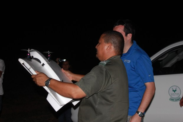 SANParks ranger launches UAV for night mission