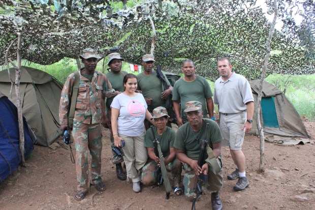 Al-Kareem founder and challenge creator Princess Aliyah meets with SANDF troops.