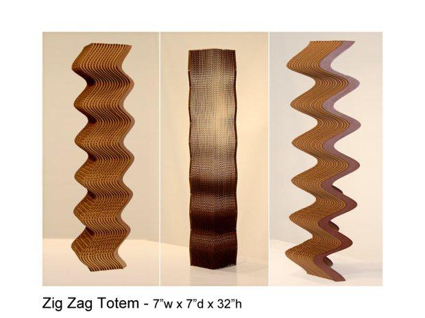 Zig Zag Totem sculpture