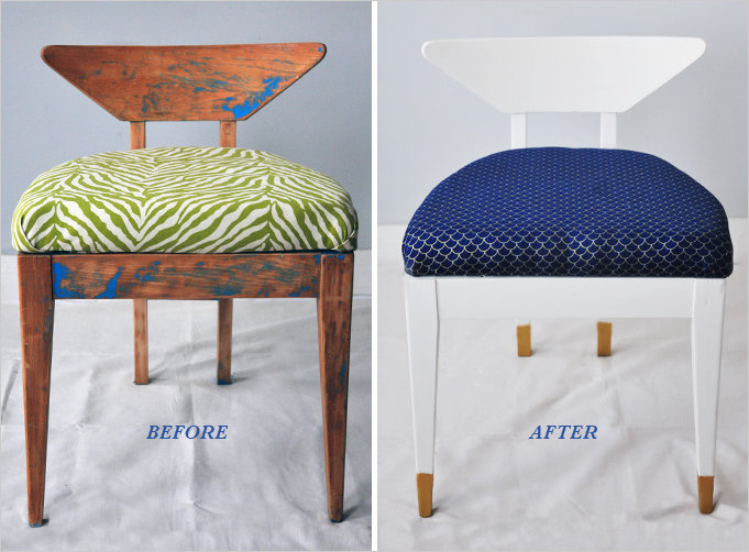 How To reupholster a chair-1