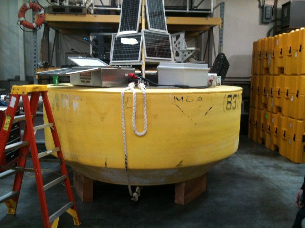 The laege buoy for the MBARI wave energy converter project