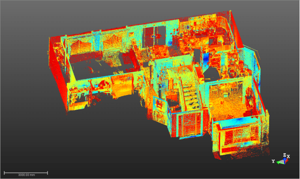 First floor — Trimble TX8 3D scanner data
