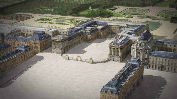 A wide angle view of Bertier's Versaille Palace SketchUp model.
