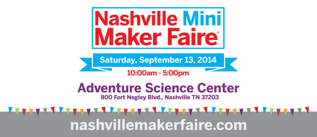 2014 Nashville Mini Maker Faire Banner