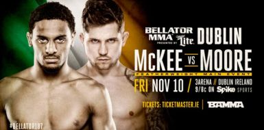 Bellator 187 McKee vs Moore Fight Poster