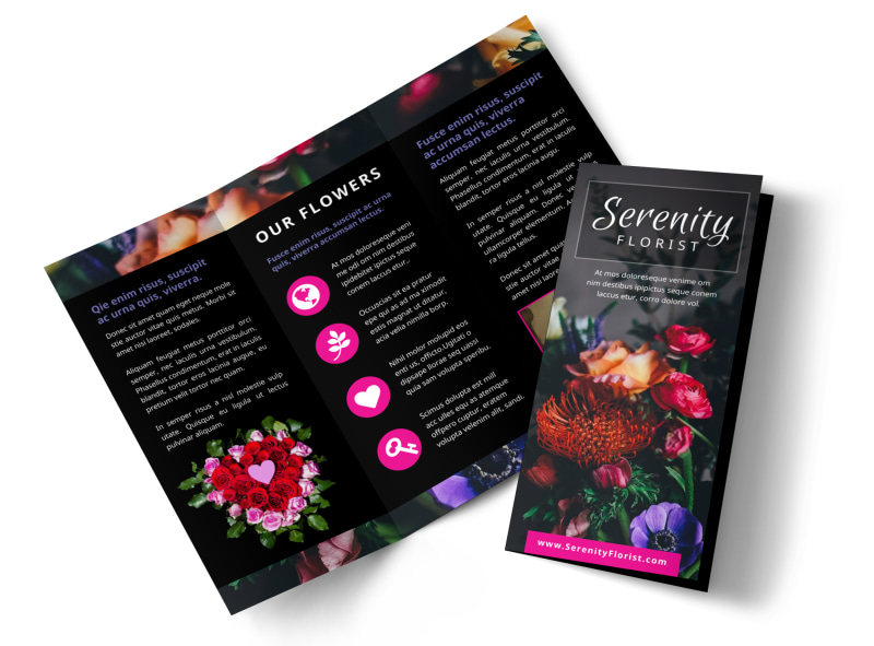 Florists   Flower Delivery Service Brochure Template   MyCreativeShop Florists   Flower Delivery Service Brochure Template