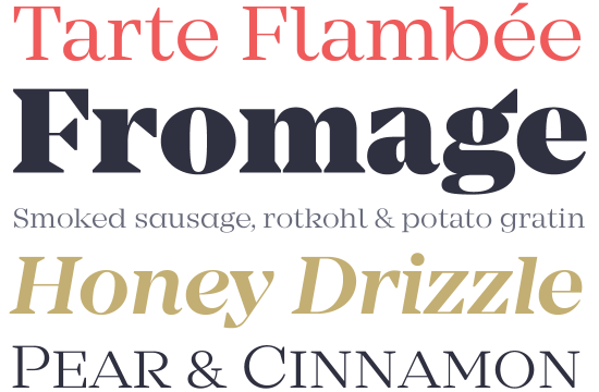 Mirador font sample