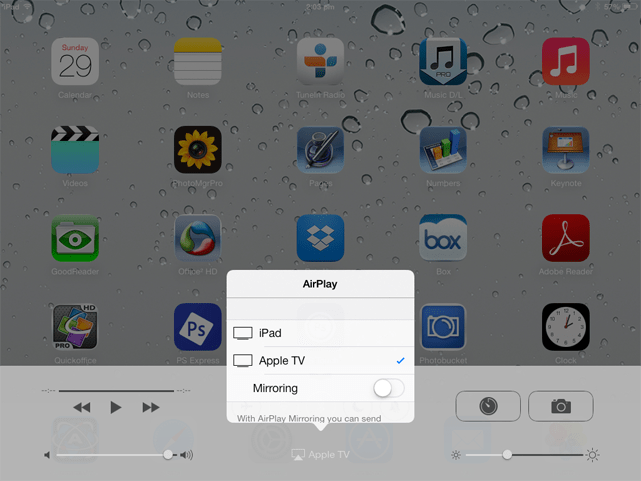 Enable AirPlay on iPad TrackMan