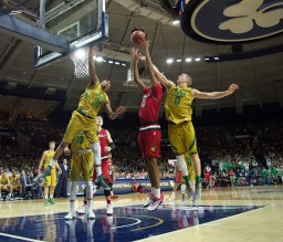 20160213, 20160213, Caitlyn Jordan, Men's Basketball, ND vs Louisville, Purcell Pavilion-6