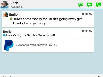 BBM Now Lets Users Send and Receive Money via PayPal ...