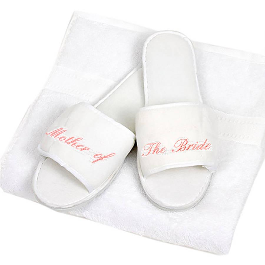 personalised wedding slippers wedding slippers Personalised Wedding Slippers