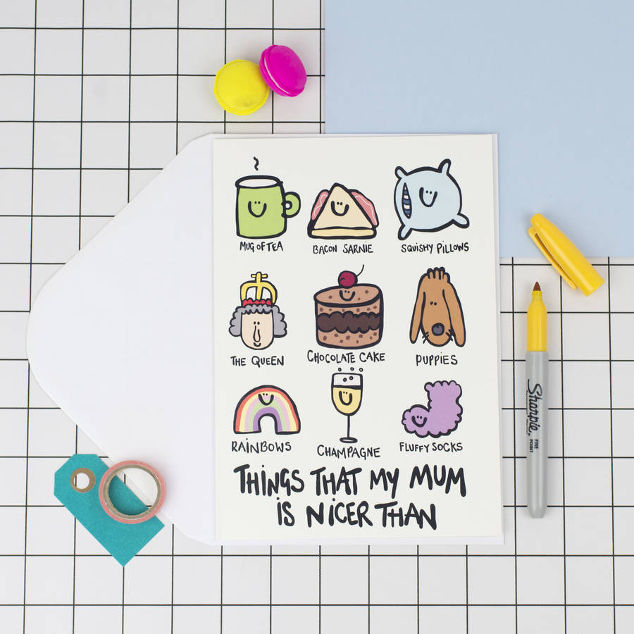 Special Sister Ny Birthday S Original My Mum Is R Than A5 Mors Day Card Ny Birthday S Quotes photos Funny Birthday Pictures