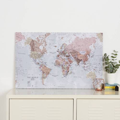 Medium Of World Map Canvas