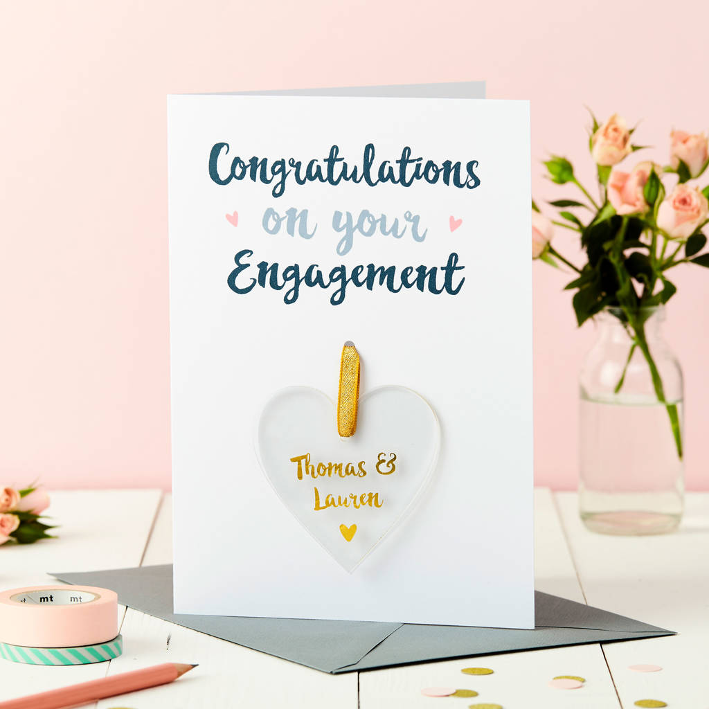 Amusing Personalised Engagement Foiled Keepsake Card Personalised Engagement Foiled Keepsake Card By Martha Brook Congratulations On Your Engagement Cake Congratulations On Your Engagement Gifts inspiration Congratulations On Your Engagement
