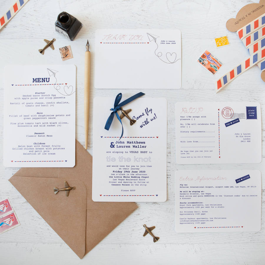 wedding invitation packs diy diy wedding invitation Fly With Us Diy Wedding Invitation Pack By In A Teacup