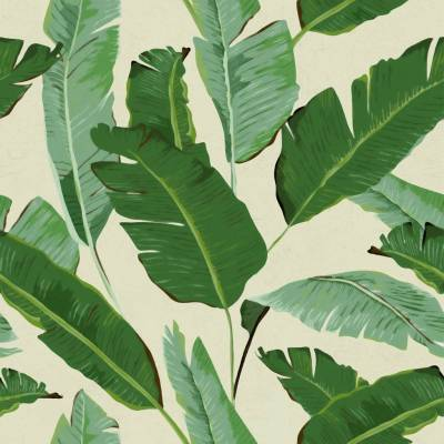 banana leaves wallpaper by lime lace | notonthehighstreet.com