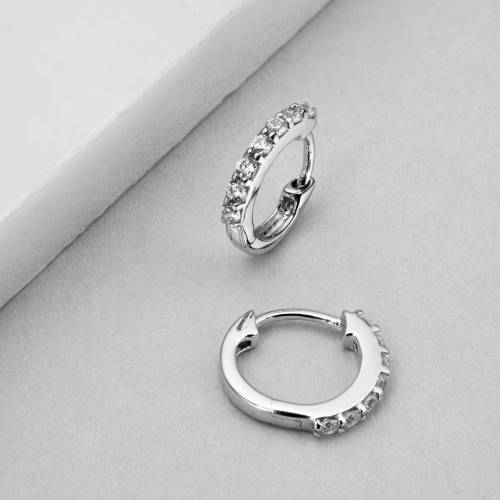 Medium Crop Of Diamond Hoop Earrings