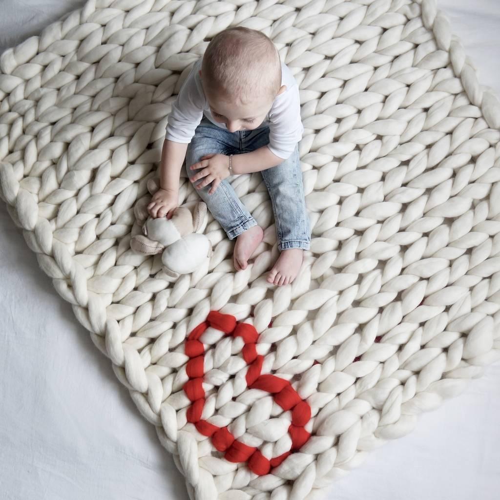 Fullsize Of Knitted Baby Blanket