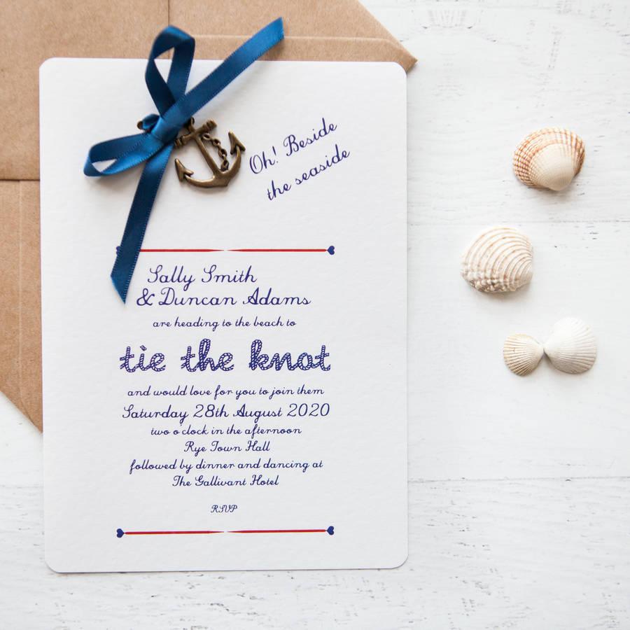 diy wedding invitations nautical diy wedding invitation Nautical Diy Wedding Invitation Pack By In A Teacup