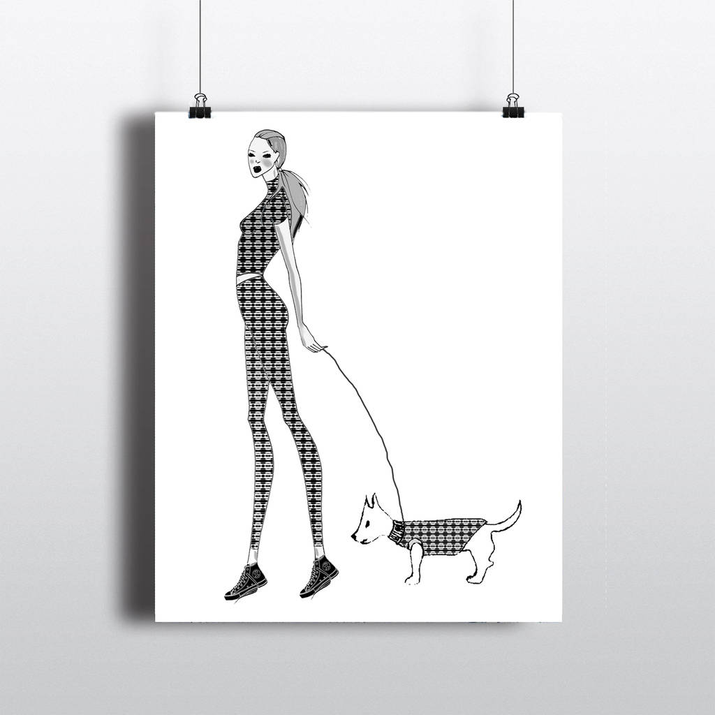 Tempting Her Dog Living Life Her Dog Georgetown De A Girl Her Dog Wall Art Print By Girl Limit A Girl Fashion Illustration Girl Her Dog Wall Art Print Fashion Illustration Girl Peace bark post A Girl And Her Dog
