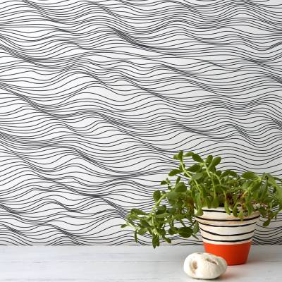 'linear waves' wallpaper by bold & noble | notonthehighstreet.com