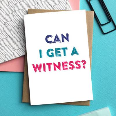 can i get a witness wedding greetings card by do you punctuate? | notonthehighstreet.com