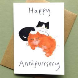Mind Happy Anniversary Card Cat Card Happy Anniversary Card Cat Card By Jo Clark Design Happy Anniversary Images To Couple Happy Anniversary Images Free