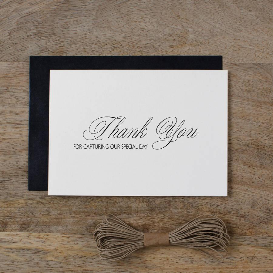 wedding photographer thank you card thank you cards wedding Wedding Photographer Thank You Card
