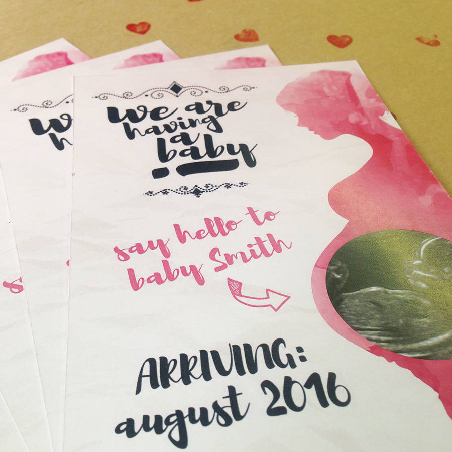 Voguish Original Personalised Pregnancy Announcement Photo Cards Pregnancy Announcement Cards Free Printable Pregnancy Announcement Cards Free Template cards Pregnancy Announcement Cards