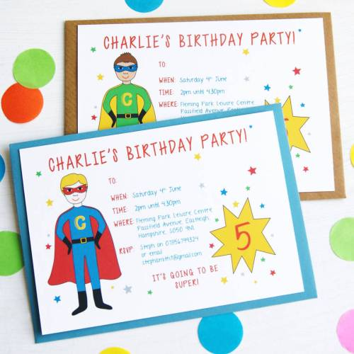 Medium Crop Of Superhero Birthday Invitations