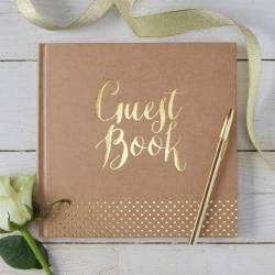 Corner G Foiled Wedding Guest Book Brown Kraft G Foiled Wedding Guest Book By Ginger Ray Wedding Guest Book Photo Album Wedding Guest Book Drop Box Brown Kraft